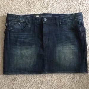 Short Blue Jeans sz 14 Rock & Republic mini skirt